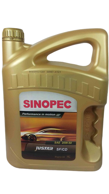 Sinopec Justar 20w-50 Engine Oil SF/CD 4 liters keg
