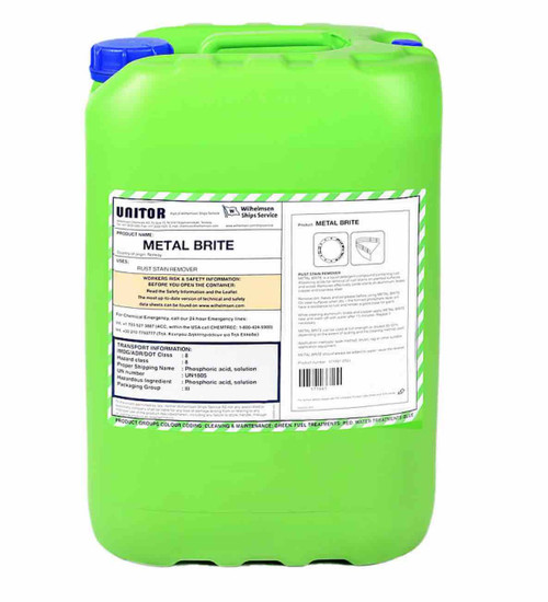 UNITOR METAL BRITE 25 LITERS CAN