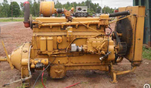 CATERPILLAR ENGINE G342, USED STATIONARY GAS ENGINE