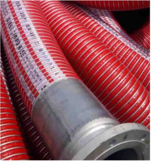 Bulk Discharge and Cargo Hose with flange coupling 8 inch by 12 meters