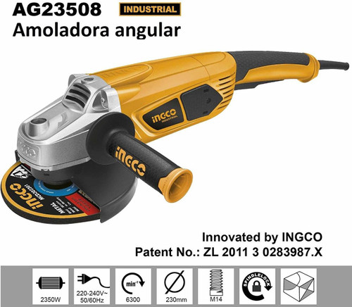 Angle grinder 230mm 9 inches INGCO 23508