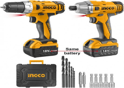 Cordless Drill/Impact Driver Combo Kit INGCO CKLI18021