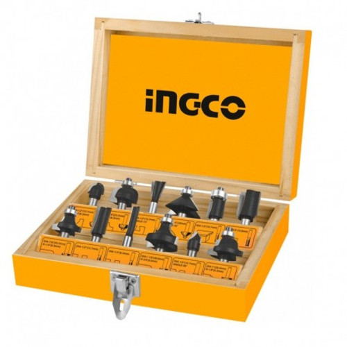 12Pcs Router Bits Set (12mm) INGCO AKRT1221