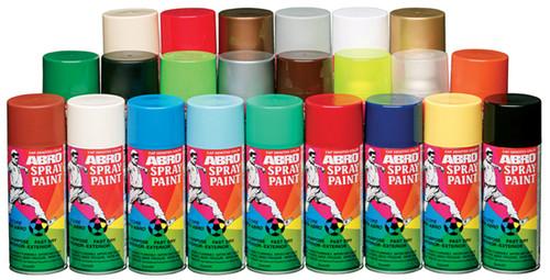 Spray paint (gold colour) colour of cap represent spray colour