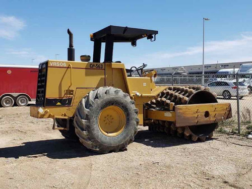 Vibratory Padfoot compactor Roller USED CATERPILLAR CP-563-E  1993 model for Sale