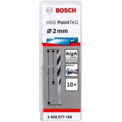 Bosch Metal Drill Bit HSS PointTeQ 2,0 mm (10 pcs)