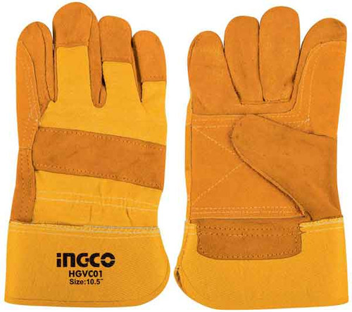 Cow Split leather gloves - INGCO HGVC01