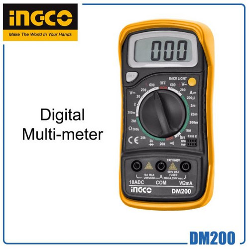 GZ Industrial Supplies is the distributor and supplier of Ingco DM200 Digital Multimeter (DM200) in NIgeria.