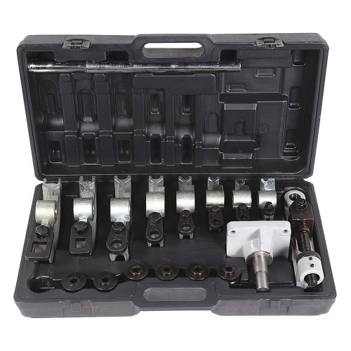 "Complete Kit for Bending Round and Square Tube Up to 180 Degrees for Frames, Railings, Gates, Furniture.Round Tube Dies 3/8"", 1/2"", 9/16"" 5/8"" 3/4"" 7/8"", Square Tube Dies 3/4"" and 1"", Mounting Base, Handle Extension"