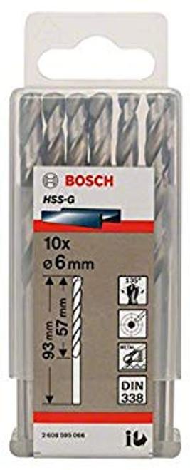 Bosch Metal drill bits HSS-G, DIN 338 6 x 57 x 93 mm         (10pcs)