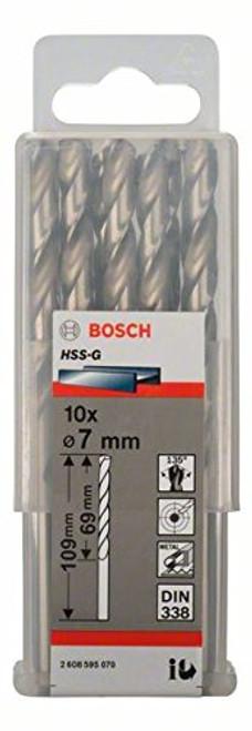 Bosch Metal drill bits HSS-G, DIN 338 7 x 69 x 109 mm       (10pcs)