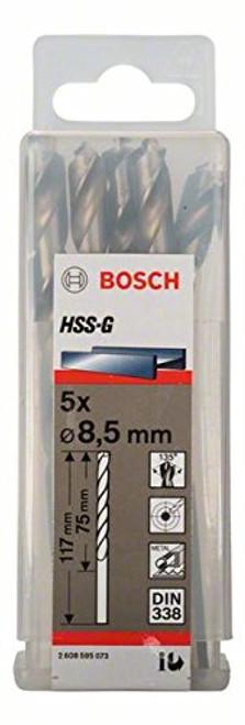 Bosch Metal drill bits HSS-G, DIN 338 8,5 x 75 x 117 mm    (5pcs)