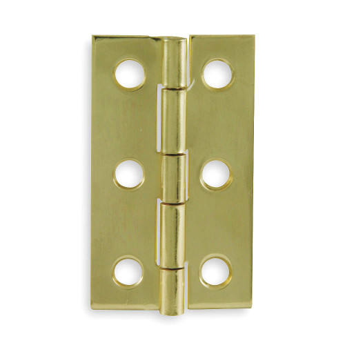 Utility hinges, full surface,plain non removable and polished with brass.