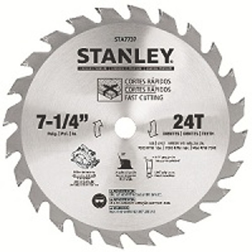 """STANLEY 7-1/4"""" 24T Saw Blade - Carded"""