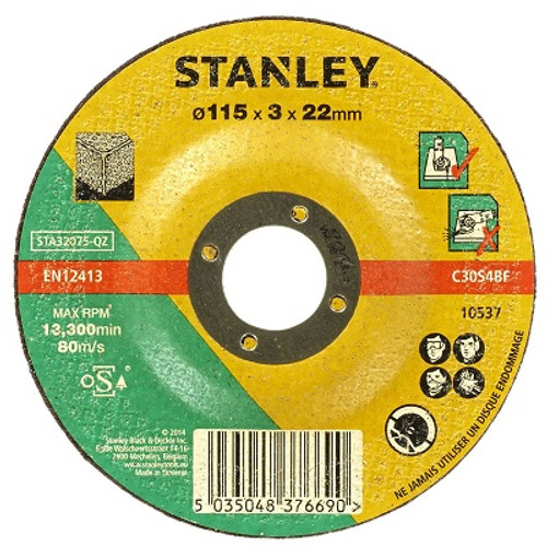 STANLEY Masonry CUT/Disc 115MM x3