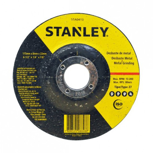 STANLEY T27 METAL GRND 115x6x22MM