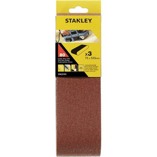 Stanley Belt Sander Belts 75x533 80G - STA33191-XJ