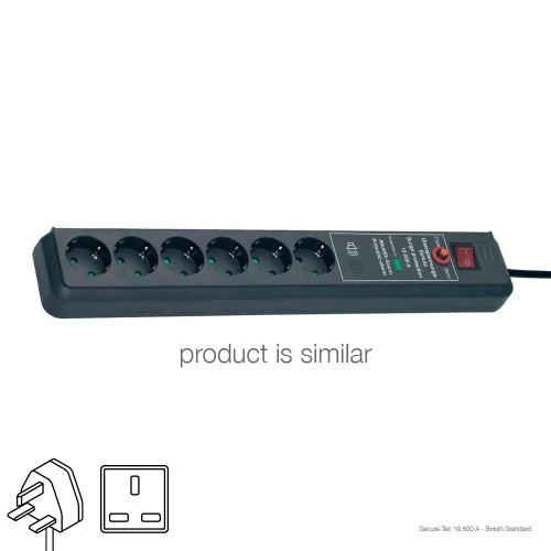 Brennenstuhl Secure-Tec 19500 A Extension Socket, British Standard