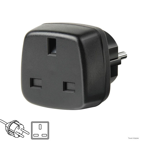Brennenstuhl Travel Adapter Euro plug, British Standard socket