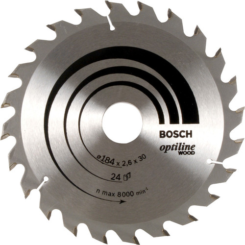Bosch TCT Optiline Circular Saw Blade 180x30/20x2,6mm,24