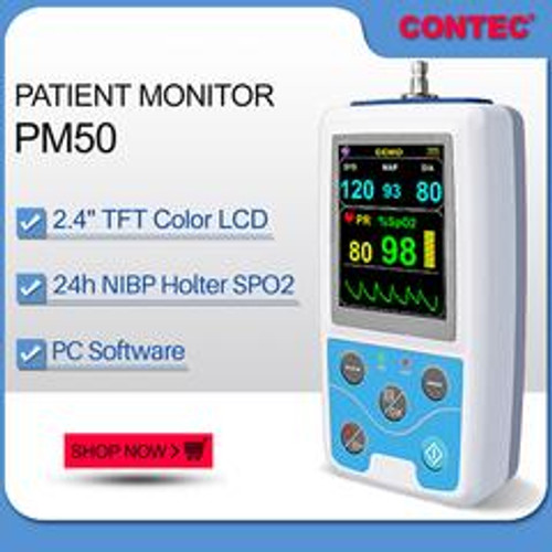 PM50 Patient Monitor BP NIBP SPO2 PR dynamic blood pressure alarm Contec