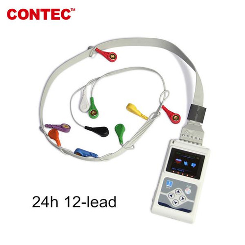 TLC5000 ECG Holter 12 Channel 24h EKG Monitor Contec