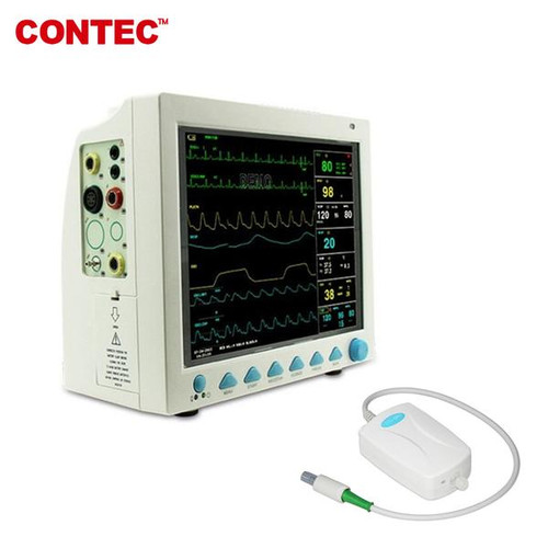 CMS800 with Capnograph CO2 Patient Monitor ETCO2 vital signs 7 parameter CONTEC
