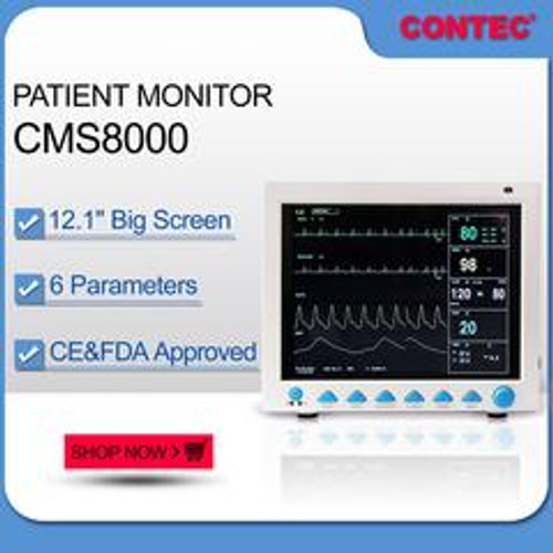 CMS8000 Patient Monitor,6 Parameters FDA&CE ICU CCU Vital Signs  CONTEC