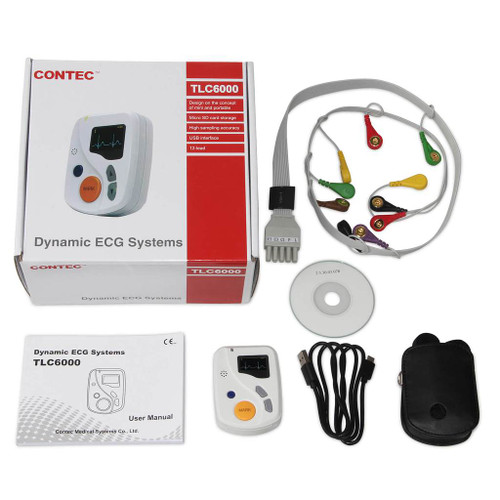 TLC6000 Dynamic 12 Channel 48 hours ECG/EKG Holter Recorder Systems Monitor Contec
