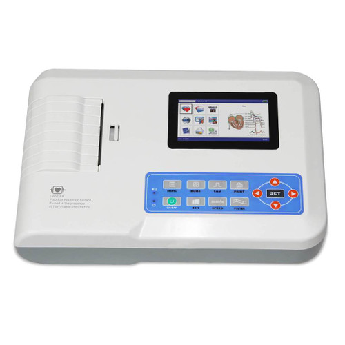 ECG300GT Touch Screen Portable ECG/EKG machine 12-Leads 3 Channel+Printer CONTEC