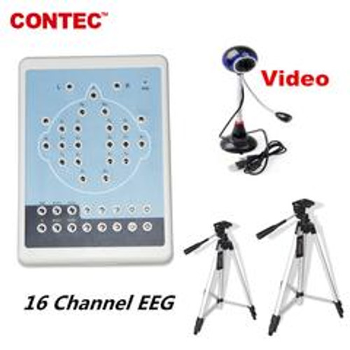 KT88-1016 Digital 16-Channel EEG Machine& Mapping Systems,Video camera+ Software CONTEC