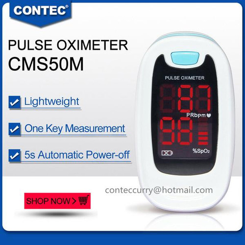 Fingertip Pulse oximeter Spo2 Monitor Blood Oxygen LED case CMS50M CONTEC