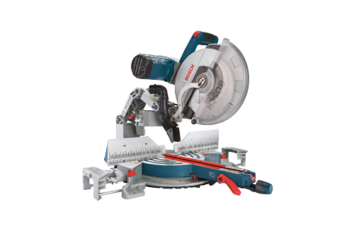 """Bosch GCM 12 SD mitre saw. 12 In. Dual-Bevel Glide Miter Saw  Includes  (1) 12"""" 60T Blade  (1) Material Clamp  (1) Dust Bag"""