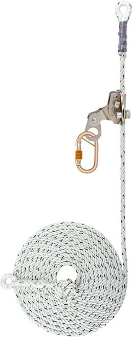 Detachable Galvanized Steel Fall Arrester on Twisted Rope Anchorage Line PN 2007/PN 2007(AP) KARAM