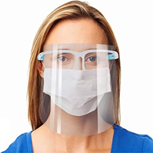 Face Shield mask with glasses frame