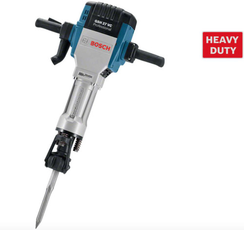 Bosch GSH 27 VC Demolition Hammer 29kg breaker Technical Specifications of GSH 27 VC hammer: Rated power input 2,000 W Impact energy 69 J Impact rate at rated speed 1000 bpm Weight without cable 29.5 kg Toolholder 28 mm internal hexagon.