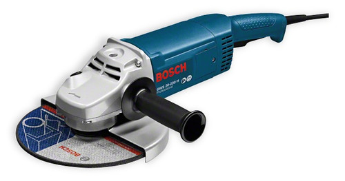 Bosch GWS 20-230 H Professional Angle Grinder The most important data Rated power input 	2.000 W No-load speed 	6.600 rpm Disc diameter 	230 mm