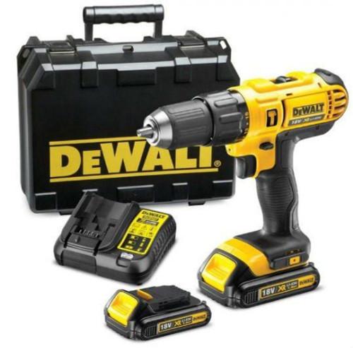 DEWALT 18V HAMMER DRILL +2X 1.5AH BATT