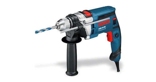 Bosch GSB 16 RE in box The most important data Rated power input 	750 W Drilling diameter in masonry 	18 mm Drilling diameter in wood 	30 mm