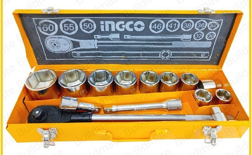 "Socket Set DR 15Pcs 3/4"" HKTSO34151 INGCO"