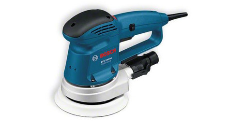 Bosch GEX 150 AC Professional Random orbit sander The most important data Rated power input 	340 W Sanding pad diameter 	150 mm Oscillating circuit diameter 	4 mm