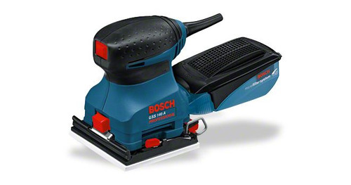 Bosch GSS 140 A Professional orbital sanders The most important data Rated power input 180 W Sanding plate, width 113 mm Sanding plate, length 105 mm