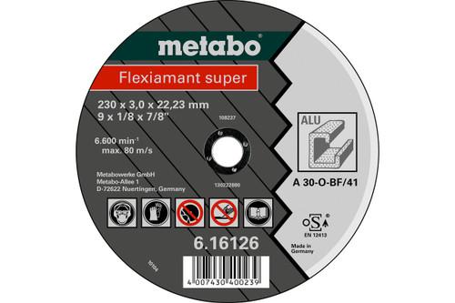 """Flexiamant Super Cutting Disc 9"""" for Aluminium Metabo"""