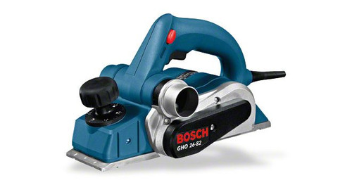 Bosch GHO 26-82 planer The most important data Rated power input 	710 W Planing width 	82 mm Adjustable depth of cut 	0 – 2,6 mm