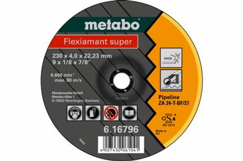 """FLEXIAMANT SUPER 4.5""""Grinding Disc For PIPELINE METABO"""
