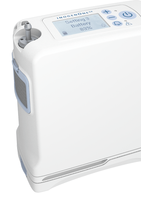 INOGEN PORTABLE OXYGEN CONCENTRATOR side view