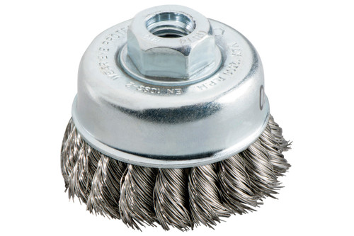 Cup Brush 80mm Steel-Wire, Twisted Metabo