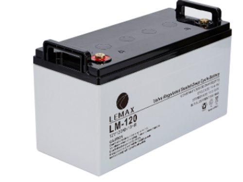 AGM Battery Rechargeable VRLA 12V 120AH Lemax