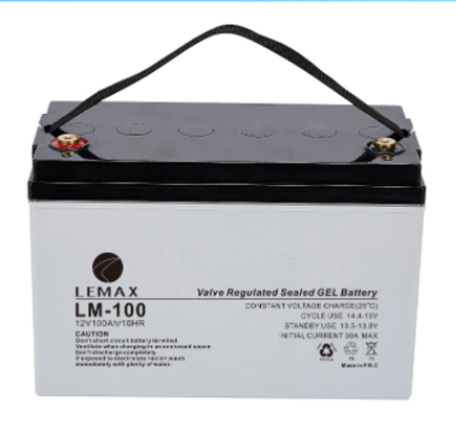 Deep Cycle Battery Electricity Storage 12V 100AH Lemax
