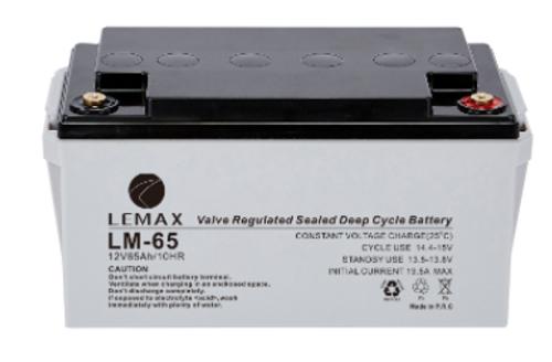 Battery Lead Acid Deep Cycle Battery UPS 12V65AH Lemax